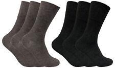 Mens 3 Pack Wide Loose Non Elastic Top Warm Thin Thermal Diabetic Socks 6-11 uk