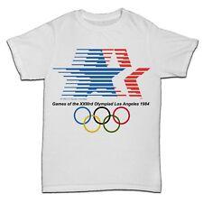Juegos Olímpicos de Los Ángeles Evento Deportivo Retro T Shirt 1984 hombre para correr