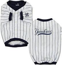 Sporty K9 MLB New York Yankees Baseball Dog Jersey, White/Navy