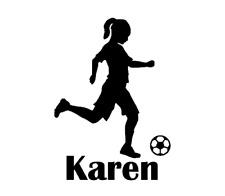 Soccer & Name Decal for Yeti, Car, Truck, Tumbler, Travel mug - Girl gift
