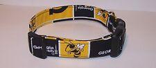 Wet Nose Designs Georgia Tech Hornets Dog Collar NCAA Buzz Black Gold