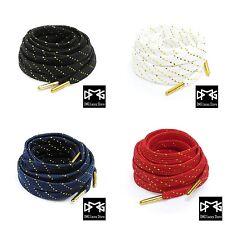 Metallic Gold Silver Thread Flat Shoe laces for Air Jordan Kyrie kobe LBJ KD BHM