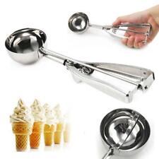 Stainless Steel Scoop 4/5/6cm Ice Cream Mash Potato Food Spoon Kitchen Tool  X@N