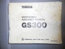 Yamaha Assembly Manual 1975 GS300 Snowmobile