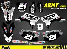 Kit Déco Moto pour / Mx Decal Kit for Honda CRF - Camo