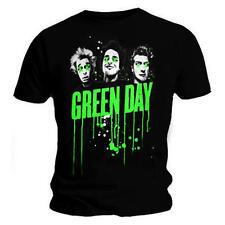 Oficial Green Day-Uno Dos tre ~ banda goteos-Para Hombre Camiseta Negra