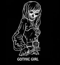 GOTHIC GOTH SKELETON GIRL COFFIN SKULL T-SHIRT 173