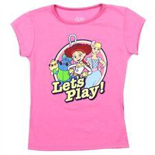 Disney Pixar Toy Story Toddler and Big Girls Sibling Tee Pink T-Shirt Top 2T-6X
