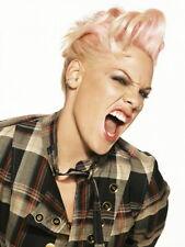 Pink Scream Portrait Rock Music Singer Rare HUGE GIANT PRINT POSTER