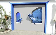 3D Delphine Garage Tür Wand Druck Abziehbild Wand AJ WALLPAPER DE Lemon