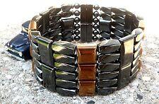 SIX ROW Men's POWERHOUSE SERIES Magnetic COPPER n BLACK Hematite Bracelet 6 row