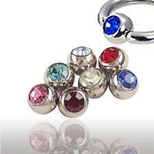 Piercing Boule de serrage avec cristal en 5mm