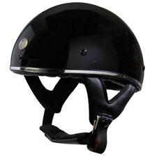 TORC T5 Fiberglass Cruiser 1/2 Half Face Motorcycle Helmet - Gloss Black Chrome