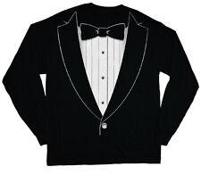 long sleeve t-shirt for men tuxedo tee shirt tux wedding groom design mens black