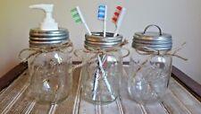 Galvanized Mason Jar Soap Pump Lid Set 3 Lids Soap Pump Toothbrush Storage Jars
