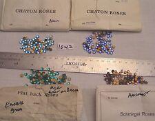 Vtg 5mm Crystal Flat Back Rhinestone West Germany Jewelry Repair Craft Lot ss20