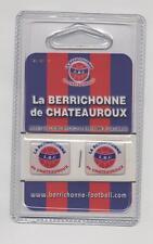 NEUF 2 LOGOS ADHESIFS EN RELIEF CLUB FOOT LA BERRICHONNE DE CHATEAUROUX LBC DECO