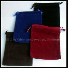 12 cm x 10 cm Velveteen Gift / Jewellery /  Ladies accessories Pouche / Bag