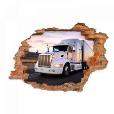 nikima - 057 Wandtattoo  Truck - Loch in der Wand - Kinderzimmer LKW Lastwagen L