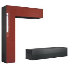 Mobile porta tv Tommi | corpo nero opaco frontali in 14 colori