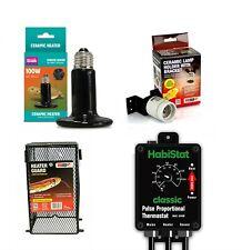 Arcadia Reptile Ceramic Heater Bundle CHE, Lamp Holder, Guard & Pulse Thermostat
