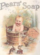 Principios del siglo XX Pears Soap Bebé Publicidad Cartel A3/A4 impresión