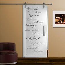 Glasschiebetür SD928-V1000 Klarglas Dekor, Griffstange Edelstahl matt