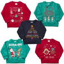 garçon fille Noël t-shirts pull haut Nouveauté Santa Rudolph Robin 2-6yrs