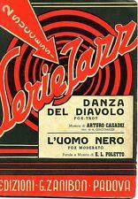 Serie Jazz # Casadei - Poletto # DANZA DEL DIAVOLO - L'UOMO NERO # Zanibon 1947