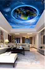 3D Earth World Ceiling WallPaper Murals Wall Print Decal Deco AJ WALLPAPER GB