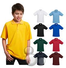 Kids Polo Shirt Size 4 6 8 10 12 14 16 School Top Boys Girls