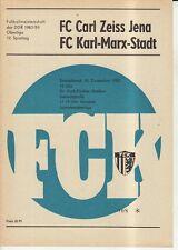 OL 83/84  FC Karl-Marx-Stadt - FC Carl Zeiss Jena