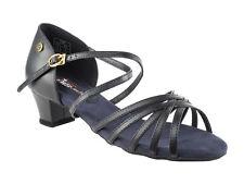 Women's West Coast Swing Salsa Ballroom Dance Shoes low Heel 1.5 VeryFine CD1124