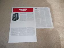 Pioneer DSS-E10 High End Speaker Review, 1986, 3 pg