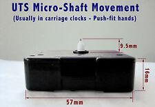UTS quartz movement mechanism, CARRIAGE CLOCK MICRO-SHAFT MODEL, 10mm shaft