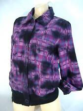 """New Junior Womens Small Roxy """"Bleachers"""" Tie Die Purple Heavy Jacket Fleece $75"""