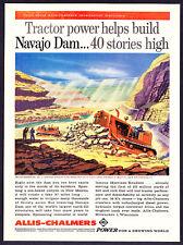 1958 Allis-Chalmers Tractors at Navajo Dam art print ad