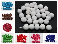 100 Velvet Acrylic Round Beads 10mm for Jewelry Making Choker necklace Tassel