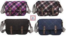 Tweed Wool Satchel Messenger Travel Winter Tartan Bag HIGH QUALITY Gift Ideas
