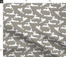 Galgo Greyhound Dog Hound Sighthound Windhund Fabric Printed by Spoonflower BTY