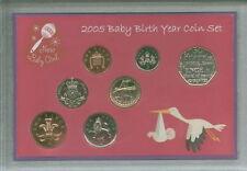 New Born Baby Girl Coin Ensemble Cadeau 2005 (Parent maman & papa naissance Keepsake Présent)