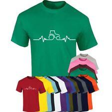 Arada Tractor de frecuencia cardiaca superior para Hombres Chicos Fiesta camiseta Manga Corta Camiseta Lote