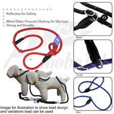 HEM & BOO Dog Rope Slip Lead Reflective for Safety Metal Slider Prevents Choking