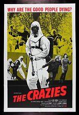 THE CRAZIES * 1973 CineMasterpieces HORROR GAS MASK HAZMAT SUIT MOVIE POSTER