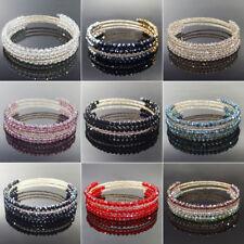 Handmade Multilayer Shining Glass Crystal Beads Bracelet