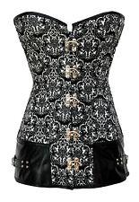 corsetto Vintage stampa bustino burlesque lingerie intimo da donna D5349