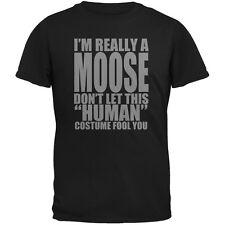 Halloween Human Moose Costume Black Adult T-Shirt