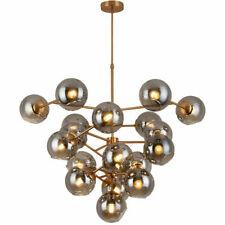 Modern Chandelier Gold Plated Pendant Light LED Glass Ceiling Lamp Living Room