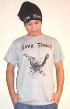 """Long Beach """"gun-n-Mic"""" T-Shirt (gris) Hiphop streatwear"""