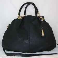 Cynthia Rowley Leather Bag Purse Satchel Sac Snake Print Purple Olive New